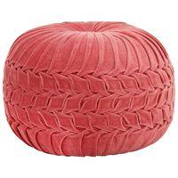 vidaXL rózsaszín zubbonyos pamutbársony puff 40 x 30 cm