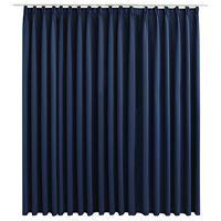 vidaXL kék sötétítőfüggöny kampókkal 290 x 245 cm