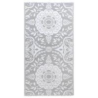 vidaXL világosszürke PP kültéri szőnyeg 120 x 180 cm