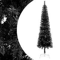 vidaXL fekete vékony karácsonyfa 240 cm