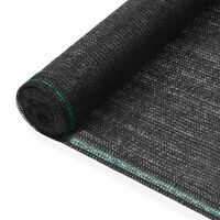 vidaXL fekete HDPE teniszháló 1,6 x 50 m