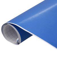 vidaXL matt kék 4D autófólia 200 x 152 cm