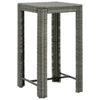 vidaXL szürke polyrattan kerti bárasztal 60,5 x 60,5 x 110,5 cm