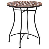 vidaXL barna kerámia mozaikos bisztróasztal 60 cm