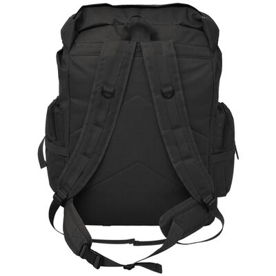 vidaXL katona stílusú hátizsák 65 L fekete