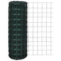 vidaXL Euro Fence zöld acélkerítés 25 x 1,2 m