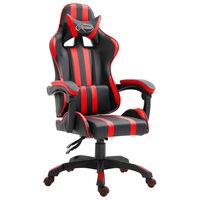 vidaXL piros műbőr gamer szék