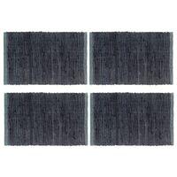 vidaXL 4 db antracitszürke pamut tányéralátét 30 x 45 cm