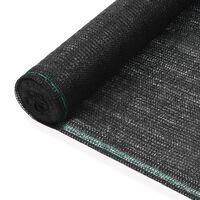 vidaXL fekete HDPE teniszháló 2 x 50 m