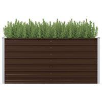vidaXL barna kerti magaságyás horganyzott acélból 160 x 80 x 77 cm