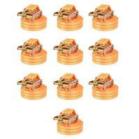 vidaXL 10 db narancssárga racsnis spanifer 1 tonna 6 m x 38 mm