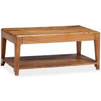 vidaXL tömör fa dohányzóasztal 88 x 50 x 38 cm