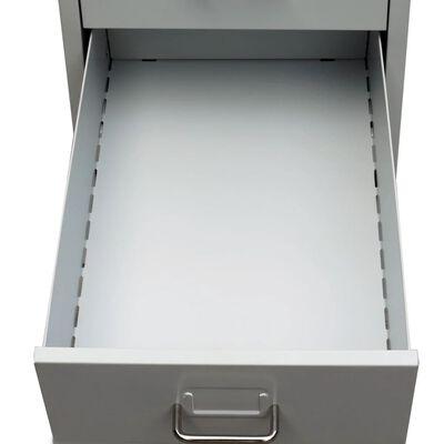 vidaXL szürke ötfiókos acél irattartó szekrény 68,5 cm