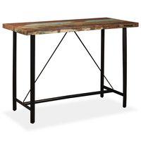 vidaXL tömör újrahasznosított fa bárasztal 150 x 70 x 107 cm