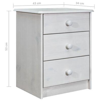 vidaXL tömör fenyőfa fiókos szekrény 43 x 34 x 53 cm