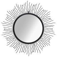 vidaXL fekete falitükör napsütésszerű dizájnnal 80 cm