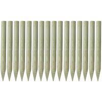 vidaXL 16 db hegyes végű impregnált fa kerítésoszlop 100 cm