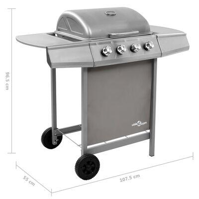vidaXL ezüst gáz grillsütő 4 égővel