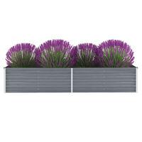 vidaXL szürke horganyzott acél kerti magaságyás 240 x 80 x 45 cm
