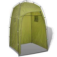 vidaXL tusoló/wc/öltöző zöld sátor