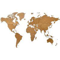 MiMi Innovations Luxury barna világtérkép fali dekoráció 130 x 78 cm