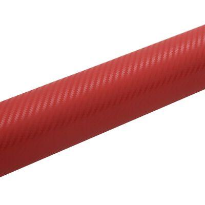 vidaXL matt piros 3D autófólia 200 x 152 cm, Red