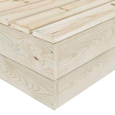 vidaXL 10 részes lucfenyő kerti raklap-bútorgarnitúra párnákkal