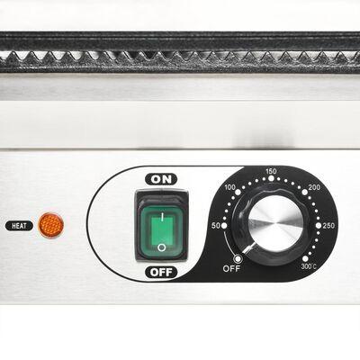 vidaXL bordás kontaktgrill 2200 W 44 x 41 x 19 cm