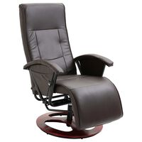 vidaXL barna műbőr elforgatható TV-fotel