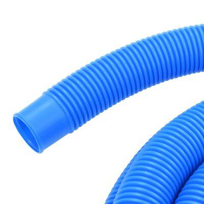 vidaXL kék medencetömlő szorítóbilincsekkel 38 mm 12 m