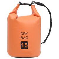 vidaXL narancssárga PVC szárazzsák 15 L
