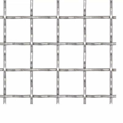vidaXL krimpelt rozsdamentes acél drótkerítés 50x50 cm 21x21x2,5 mm
