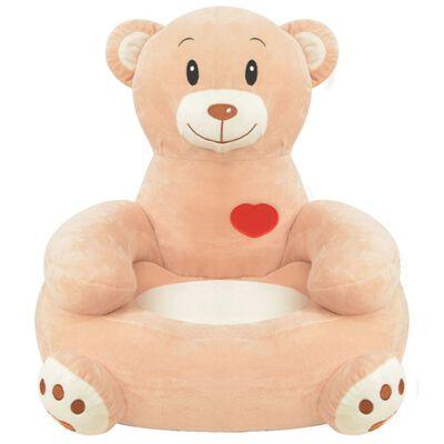 vidaXL plüss medve alakú gyerekszék barna