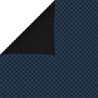 vidaXL fekete és kék napelemes lebegő PE medencefólia 975 x 488 cm