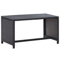 vidaXL fekete polyrattan dohányzóasztal 70 x 40 x 38 cm