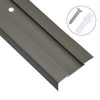 vidaXL 15 db barna L-alakú alumínium lépcső élvédő 134 cm