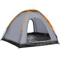 vidaXL hatszemélyes szürke sátor