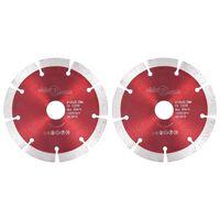 vidaXL 2 db gyémánt vágókorong acéllal 125 mm