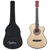 """vidaXL 12 darabos 6 húros cutaway akusztikus western gitárszett 38"""""""