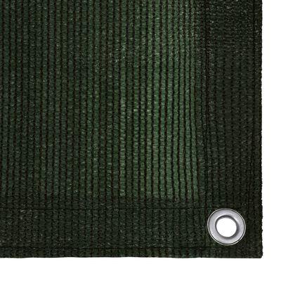 vidaXL sötétzöld HDPE erkélytakaró 75 x 600 cm