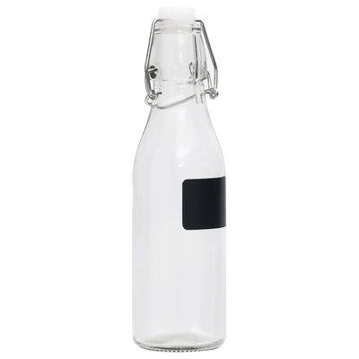 vidaXL 12 db köralakú 250 ml-es üvegpalack záró csattal