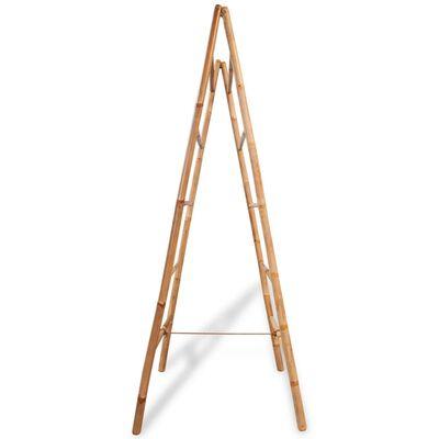 vidaXL dupla törölközőszárító létra 5 fokos bambusz 50x160 cm