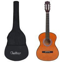 """vidaXL 3/4-es klasszikus gitár és tok kezdőknek 36"""""""