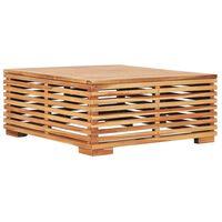 vidaXL tömör tíkfa kerti asztal 69,5 x 69,5 x 31 cm