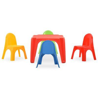 vidaXL PP gyerek asztal és szék szett