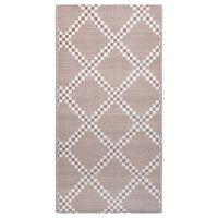 vidaXL barna PP kültéri szőnyeg 190 x 290 cm