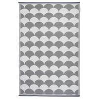 Esschert Design szürke és fehér kültéri szőnyeg 180 x 121 cm OC24