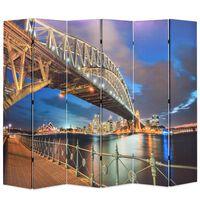 vidaXL Sydney-i Kikötőhíd mintás paraván 228 x 170 cm