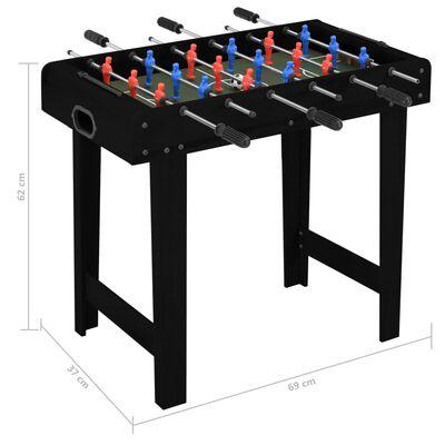 vidaXL fekete mini csocsóasztal 69 x 37 x 62 cm