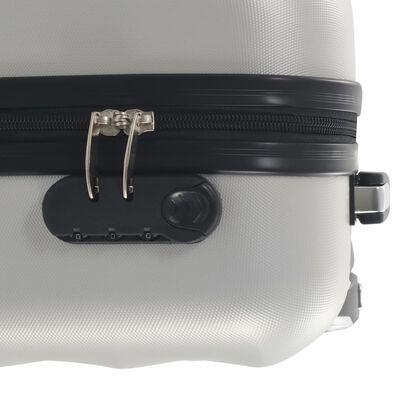 vidaXL fényes ezüstszínű keményfalú ABS gurulós bőrönd